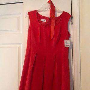 Kasper red dress